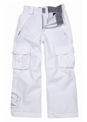 'Girls Julius Insulated Pant (Herringbone White)