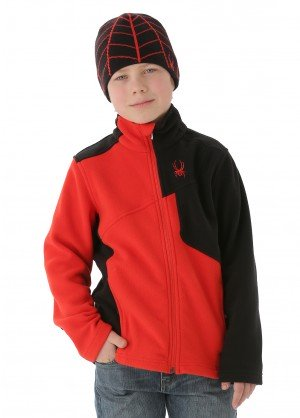Spyder Boys Speed Full Zip Fleece Jacket (Volcano/Black/Volcano)