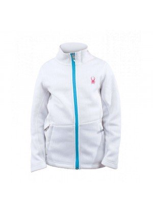 Spyder Girls Endure Full Zip Sweater (White/Splash)