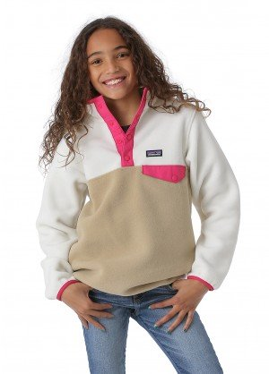 Patagonia Girls Lightweight Synchilla Snap-T Pullover - WinterKids.com