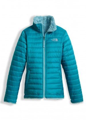 The North Face Girls Reversible Mossbud Swirl Jacket - WinterKids.com