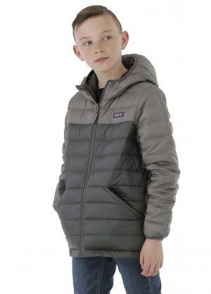 Patagonia Boys Reversible Down Sweater Hoody - WinterKids.com